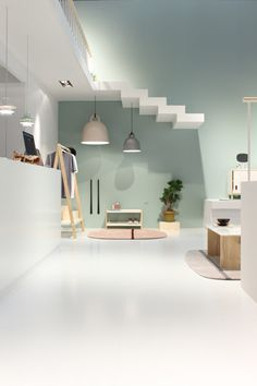 Floating stairs in the Normann Copenhagen booth at Salone.