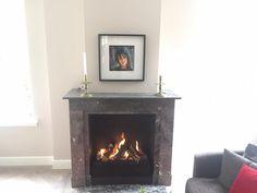 In bestaande schouw nieuw interieur met open gasvuur aangelegd Schmidt, Fireplaces, Home Decor, Homemade Home Decor, Fire Places, Fire Pits, Interior Design, Home Interiors, Decoration Home