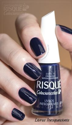 risque-colecionistas-livros-inesqueciveis Gorgeous Nails, Love Nails, Pretty Nails, Fun Nails, Basic Nails, Estilo Blogger, Nail Time, Star Nails, Nail Arts