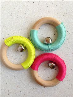 3 Pack of Play Gym Rattles