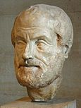 Golden mean (philosophy) Copy of a lost bronze bust of Aristotle made by Lysippos (4th century BCE)