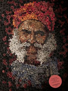 Some impressive portraits using paper quilling (rolled strips of paper) by Mumbai-based illustrator Anant Nanvare. Arte Quilling, Paper Quilling Designs, Paper Cutting, Wallpaper Travel, Book Art, Rolled Paper Art, Paper Strips, Quilled Creations, Pointillism