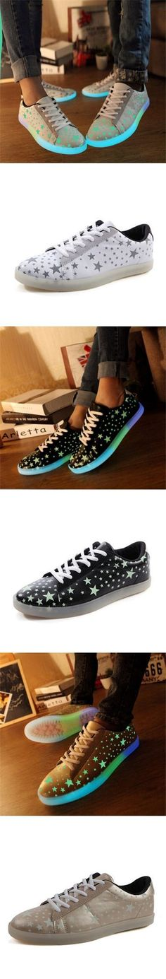 $20.88  Fluorescent Light Up Sport Sneakers Couple Shoes