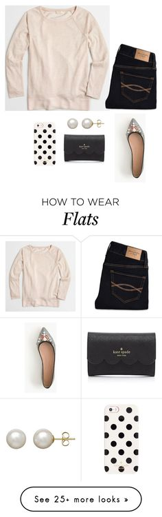 """""""New Years Tag!"""" by payton-anne on Polyvore featuring J.Crew, Abercrombie & Fitch, Honora and Kate Spade"""