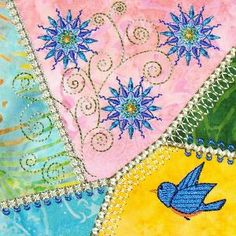 Machine Embroidery Crazy Quilt Block. Just need to remember this picture so I can repair mine.