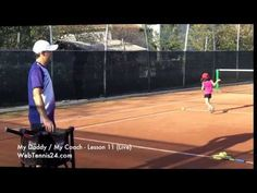 Tennis Lessons with Little Kids (no. 11) - tennis instruction, drills, games and footwork for kids