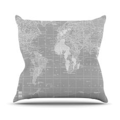 """The Olde World"" Outdoor Throw Pillow by Catherine Holcombe for  