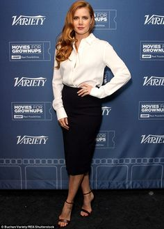 "Amy Adams attends the ""Nocturnal Animals"" at the Variety and AARP Movies For Grownups Screening Series in Los Angeles on Nov. Womens Fashion For Work, Work Fashion, Daily Fashion, Drop Dead Gorgeous, Amy Adams Style, Alexandra Breckenridge, Fashion Models, Actress Amy Adams, Non Plus Ultra"