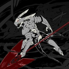 Mine from Akame ga Kill! If you still don't know about Akame ga Kill!, then go check wiki. Good manga and good animation. The only thing I still don't understand is: Mine's weapon is ca. Manga Anime, Pelo Anime, Anime Demon, Anime Art, Dragon Knight, Knight Art, Dnd Characters, Fantasy Characters, Character Concept