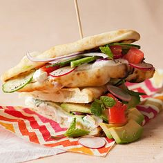 Veggie Flatbread Sandwich