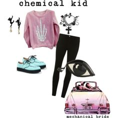 """pastel goth"" by harajukulover101 on Polyvore"