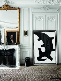 Private residence in #Paris by #interior designers Gilles & Boissier...
