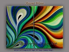 abstract paintings ascent wave abstract art