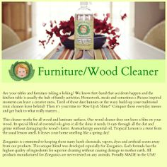 Rise Up & Shine with a non-toxic approach to cleaning your wood furniture the Zoeganics way!