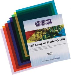 """Rosco Laboratories STARTER-GEL-KIT  (1023FCSGSKIT) Includes 16 assorted 10"""" x 12"""" color effects filters for use on lights.  Enhances set design by providing an easy method to create mood & effects with standard lights.Formulated to withstand high"""