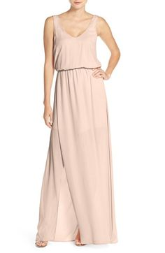 Show Me Your Mumu 'Kendall' Soft V-Back A-Line Gown | Nordstrom