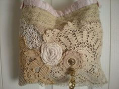 Bohemian Shabby Chic Gypsy Lace Tote  Vintage by Pursuation - leather black handbag, cheap handbags online, small womens purse *sponsored https://www.pinterest.com/purses_handbags/ https://www.pinterest.com/explore/handbags/ https://www.pinterest.com/purses_handbags/handbag-brands/ https://www.dressbarn.com/accessories/handbags