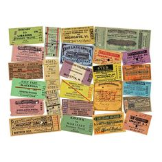 premium selection b2032 42d18 Printed Sheet - Railroad transportation ticket stubs. This is a set of  vintage ticket reproductions