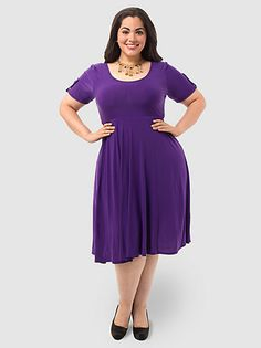 Maxine Dress In Purple