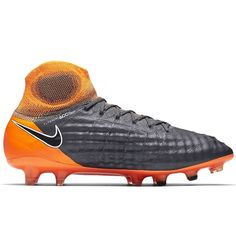 best sneakers 6efdb 63650 Sale Nike Magista Obra II Elite DF FG Men s Soccer Cleats Dark  Grey-Black-Total Orange-White
