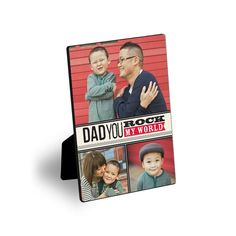 Dad rocks! Show dad how awesome he is with a desktop plaque that is perfectly brag worthy for the office.  #FathersDay  Treat.com