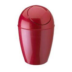 Umbra red trash can