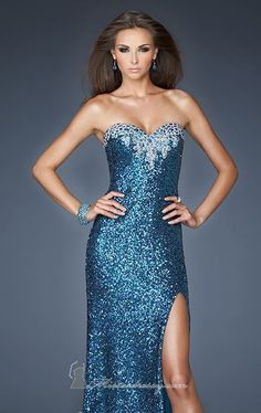 2014 New Style Strapless Sweetheart Gown by La Femme Dress [18982]