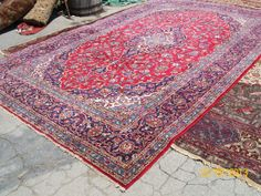 RED BLUE PERSIAN RUG 8X12'7'' - $800