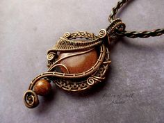 Best Wire Wrapped Goldstone Pendant Products on Wanelo