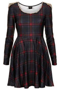 **Tartan Stud Dress by Freak of Nature