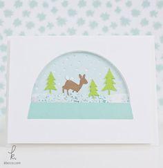 Woodsy Snow Globe Shaker Card Cut Files   K.becca