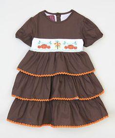 Girls 3t Thanksgiving SMOCKED Dress Fall Scarecrow Pumpkin NWOT runs small  | eBay