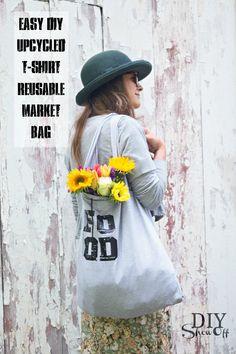 Upcycled T-Shirt Tote Bag