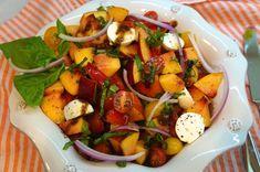 Summer Peach and Tomato Caprese