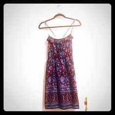 Cute Boho Sundress from American Eagle Patterned sundress with adjustable straps from American Eagle. I offer discounted bundles! Make me an offer or comment below to let me know you're interested 😄 American Eagle Outfitters Dresses