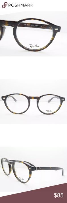 3cd29e0cf07 Rayban Eyeglasses Tortoise Frame 5283 New with clear lens Comes with Rayban  case and pouch Authentic Ray-Ban Accessories Glasses