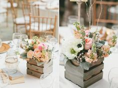 18 Non Mason Jar Rustic Wedding Centerpieces You've Got To See! - Mon Cheri Bridals
