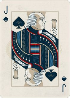FOUNDERS playing cards - infamous for failure to print and deliver to its backers on Kickstarter. Here is John Adams.see current HOUNDERS playing card parody deck on Kickstarters. Playing Card Tattoos, Jack Of Spades, Custom Playing Cards, Deck Of Cards, Card Deck, Glass Bottle Crafts, Card Companies, Joker, Dope Art
