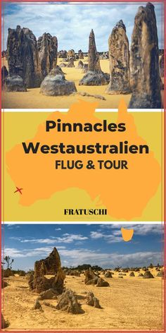 Flug & Tour zu den Pinnacles in Australien - PintoPin Great Barrier Reef, Travel Companies, Western Australia, Perth, Travel Destinations, National Parks, Tours, Nature, Outdoor