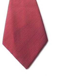 RETRO KIPPER NECK TIE by COOP Claret Stripe Textured Polyester 1970s FREE P&P #Coop #NeckTie