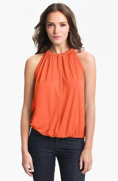 Trina Turk 'Imma' Halter Top available at Nordstrom Fast Fashion, Work Fashion, Womens Fashion, Halter Tops, Trina Turk, Suits For Women, My Style, Club Style, Outfit Of The Day