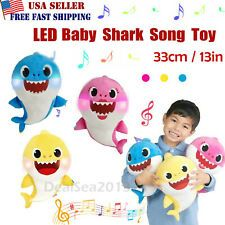 2019 Baby Shark Plush Singing Plush Toys Music Doll English Song Toy Gift USA