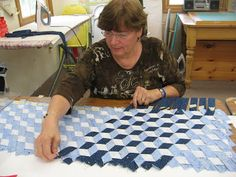 Ever thought about weaving a quilt? Here are a couple videos to show you what you can do with fabric strips. Cutting the strips to your desired width and folding them in half. Pin them to a padded surface and weave. To hold your weaving attach to a base of fusible web. After the weaving …