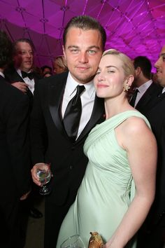 They met up multiple times throughout the season and wrapped up the excitement at Vanity Fair's annual Oscars party, where Kate helped Leo celebrate The Departed's best picture win. Later that year — 10 years after their Titanic start — they got back together in front of the cameras to film 2008's Revolutionary Road. Kate shared that their background helped them during filming, especially since the director happened to be Kate's then-husband, Sam Mendes. Kate confirmed that Leo's and her…