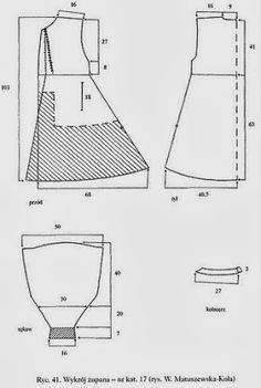 żupan, chyba połowa XVII wieku Doll Clothes Patterns, Clothing Patterns, Steampunk Cosplay, Medieval Clothing, Eastern Europe, 16th Century, Poland, Pattern Design, Costumes