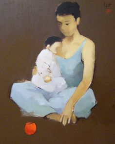 Mother and child 2 - Nguyễn Thanh Bình (Vietnamese artist)