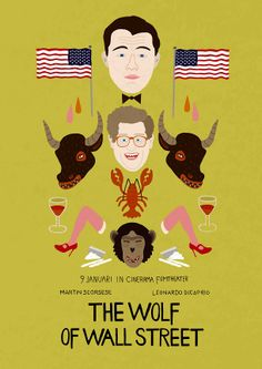 'The Wolf of Wall Street'-poster by Clemens Den Exter has gone viral