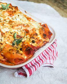 Rigatoni, Pasta Recipes, Vegan Recipes, Caesar Pasta Salads, Caesar Salad, Canned Blueberries, Vegan Scones, Gluten Free Flour Mix, Scones Ingredients