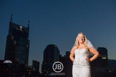 Beautiful downtown Nashville TN bridal portrait inspiration and ideas. Bridal photo by Josh Bennett Photography - www.josh-bennett.com