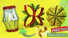 Adornos navideños con tubos de cartón - Ecobrisa DIY